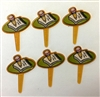 Pencil & Pad Cupcake Picks - 6 Pack