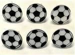 Soccer Ball Rings Or Cupcake Toppers- 6 Pack