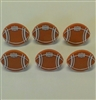 Football Rings Or Cupcake Toppers - 6 Pack