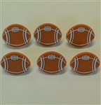 Plastic Football Ring or Cupcake Topper
