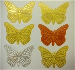 Plastic Butterfly Cake Topper - 6 Pack