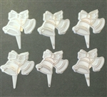 Wedding Bells Cupcake Picks - 6 Pack