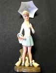 Vintage Wilton Girl with Umbrella Topper