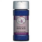 Royal Blue Sanding Sugar 4 Ounce cookie sprinkle