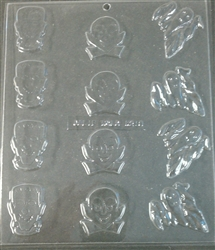 Halloween Monster Mints Chocolate Mold