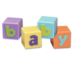 Baby Blocks Cupcake Toppers - 4 Pack