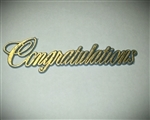"4"" Blue Congratulations Script Topper"