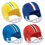 Football Helmet Cupcake Topper - Light Blue/Orange
