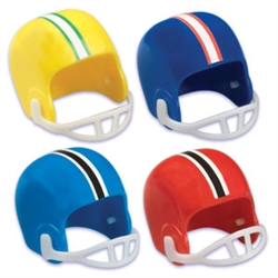 Football Helmet Cupcake Toppers -  Aqua Blue - 6 Pack
