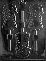 Girl Pilgrim Lolly Chocolate Mold - LPT027