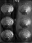 Fancy Shells Chocolate Mold beach party nautical N003