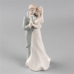 Dancing Couple Porcelain Wedding Cake Topper