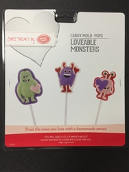 Loveable Monsters Pops Mold