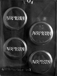 Aspirin Tablet Chocolate Mold