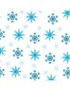 "Snowflake Foil 4"" x 4"" Candy Wraps - 50 Count"