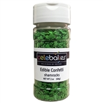 Green Shamrock Edible Confetti