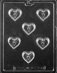 Decorative Heart Chocolate Mold - LPV167