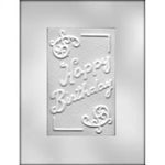 "6-1/4"" Happy Birthday Card Chocolate Mold"