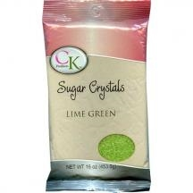 Lime Green Sugar Crystals - 1 Pound