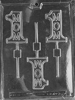 #1 Mom Lolly Chocolate Mold