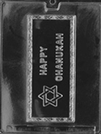 Happy Chanukah Card Chocolate Mold