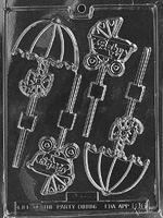 Carriage and Umbrella Lolly Chocolate Mold