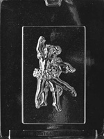 Ballerina Couple Plaque Chocolate Mold  LPK062 ballet dance recital K062