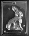 3D Sitting Bunny Chocolate Mold Easter Animal