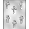 "2-1/2"" Cross Lily Chocolate Mold religious easter confirmation baptism 90-7609"
