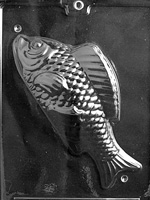 3D Large Dessert Fish Chocolate Mold N031 sports bass fishing trout