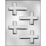 Cross with Texture Chocolate Mold religious confirmation baptism communion