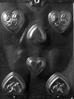 Heart Assortment Chocolate Mold wedding valentine sweetest day anniversary