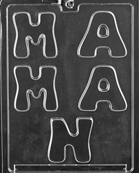 "MAMAN - ""Mother"" in French Language Mold"