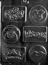 Cool Kids Soap Bar/Chocolate Mold lips princesss phone t-shirt go girl whatever