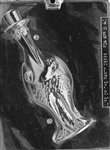 3D Baby Stork Chocolate Mold, Front bird animal newborn