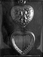 Kissing Cupids Pour Box Chocolate Mold valentine wedding anniversary rehearsal dinner