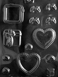 Heart/Present Pour Boxes Chocolate Mold wedding valentine anniversary