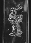 3D Jumbo Bunny w/ Basket Chocolate Mold easter animal rabbit E301
