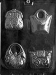 Four Purses Fashion Chocolate Mold D090 accessories