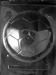 3D Large Soccer Ball Chocolate Mold - Front