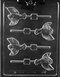 Hummingbird Lollipop sucker Chocolate Mold animal bird A137
