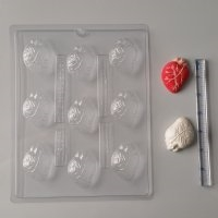 Bite Size Human Heart Chocolate Mold H157 halloween body part
