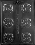 Decorative Skull Sandwich Cookie Chocolate Mold
