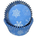 Snowflake Standard Size Paper Baking Cups - 100 Pack