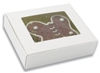 "Windowed 1 Piece White Candy Box - 6"" x 5"" x 1-1/2"""