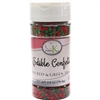 Mini Red & Green Trees Edible Confetti - 2.8 Ounce