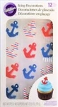 Anchors Royal Icing Decorations - 12 Pack
