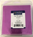 "4"" X 4"" Wild Berry Foil Wrapper - 125 Count"