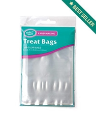 "6"" x 3-3/4"" Clear Poly Treat Bags - 100 Pack"