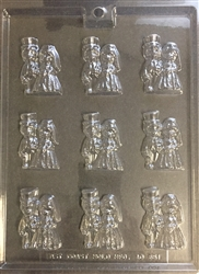 Large Bite Size Bride/Groom Chocolate Mold